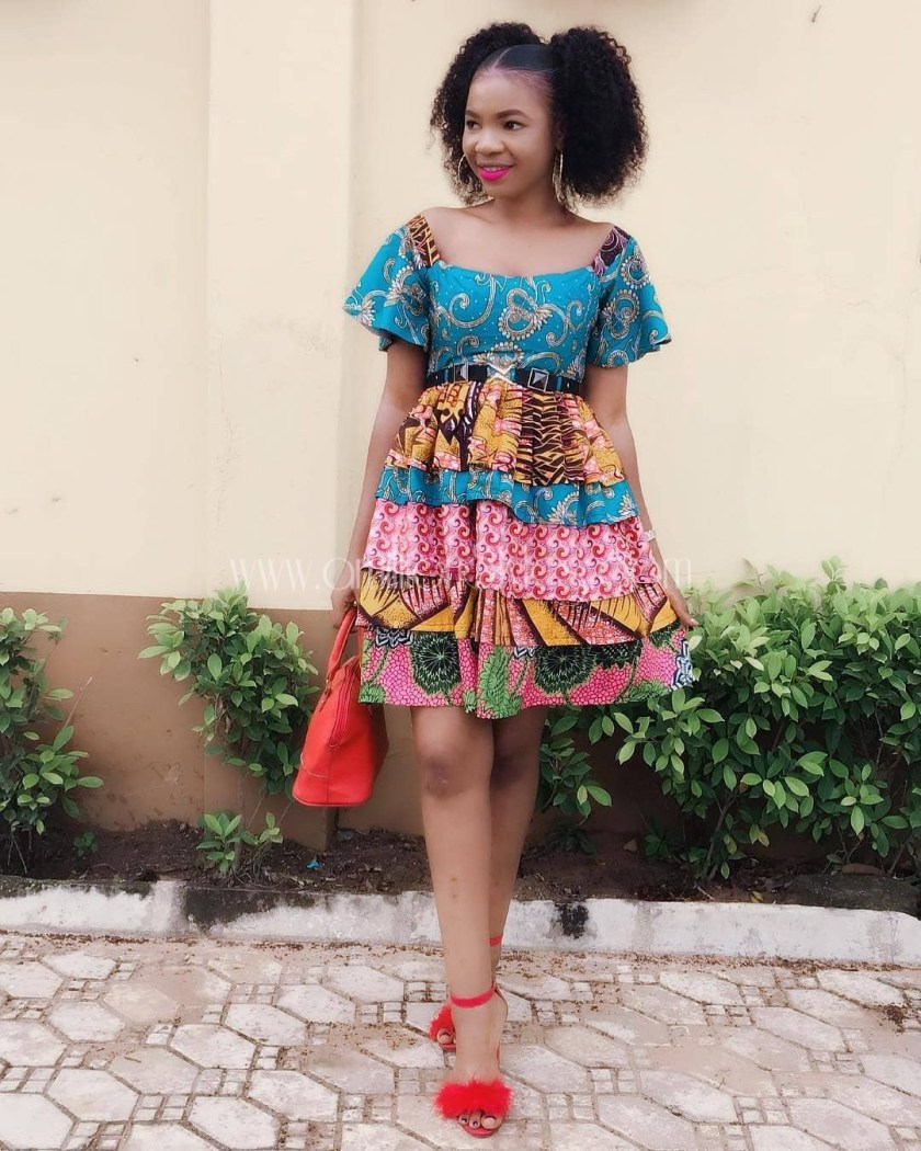 You Can't Help But Love These Fab Mix-Match Ankara Styles