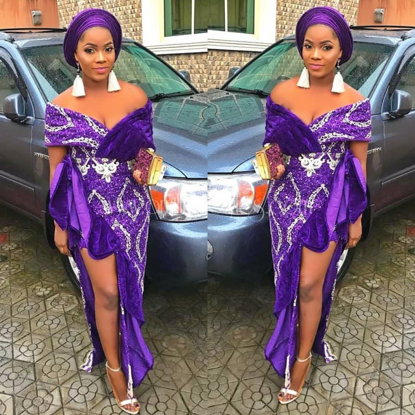 Check Out These Lace Asoebi Styles Toh Quality!