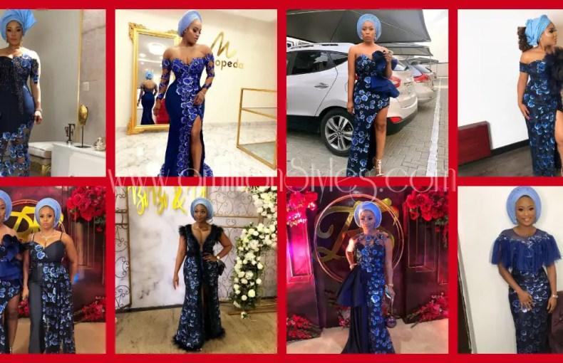 Fabulous Blue Lace Asoebi Styles Seen #OnTheBits2018