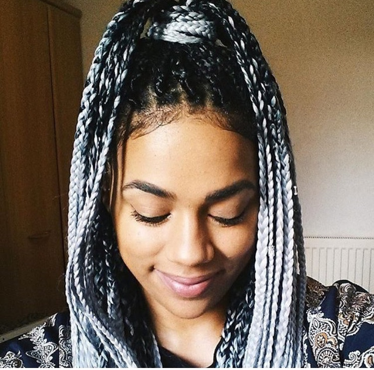 The Gray Hair Trend: Beautiful Ways You Can Join The Trend With Braids.