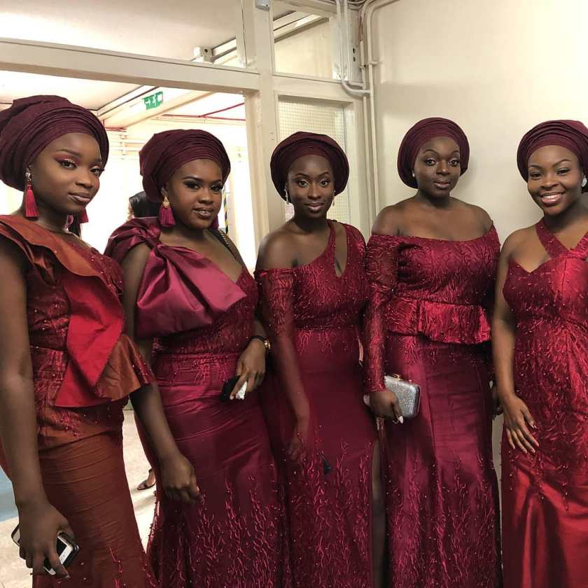 Here Are The Gorgeous Asoebi Friends Of The Bride, They Keep The Party Lit!
