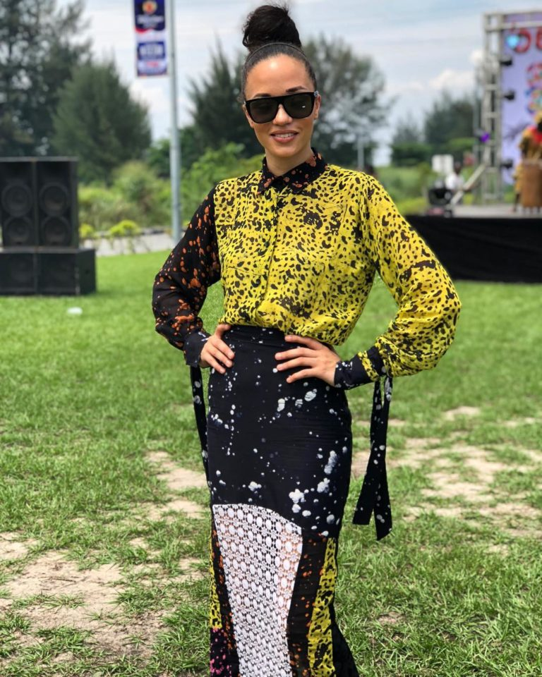 Eku Edewor Looks Amazing In This Adire Co-ord Set