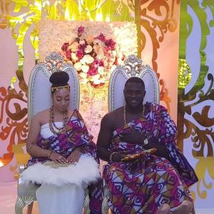 The Traditional Wedding Photos Of Sharon Oyakhilome And Philip Frimpong Is Beautiful!