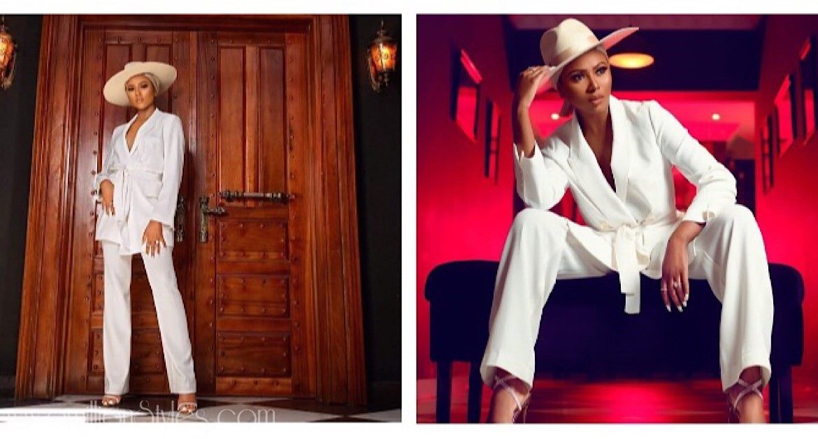 Stephanie Coker Looks So Gorgeous In An All White Suit For Her Birthday!