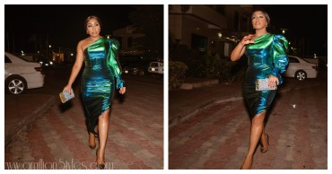 Rita Dominic Stuns In Green For AFRIFF 2018 Opening Night