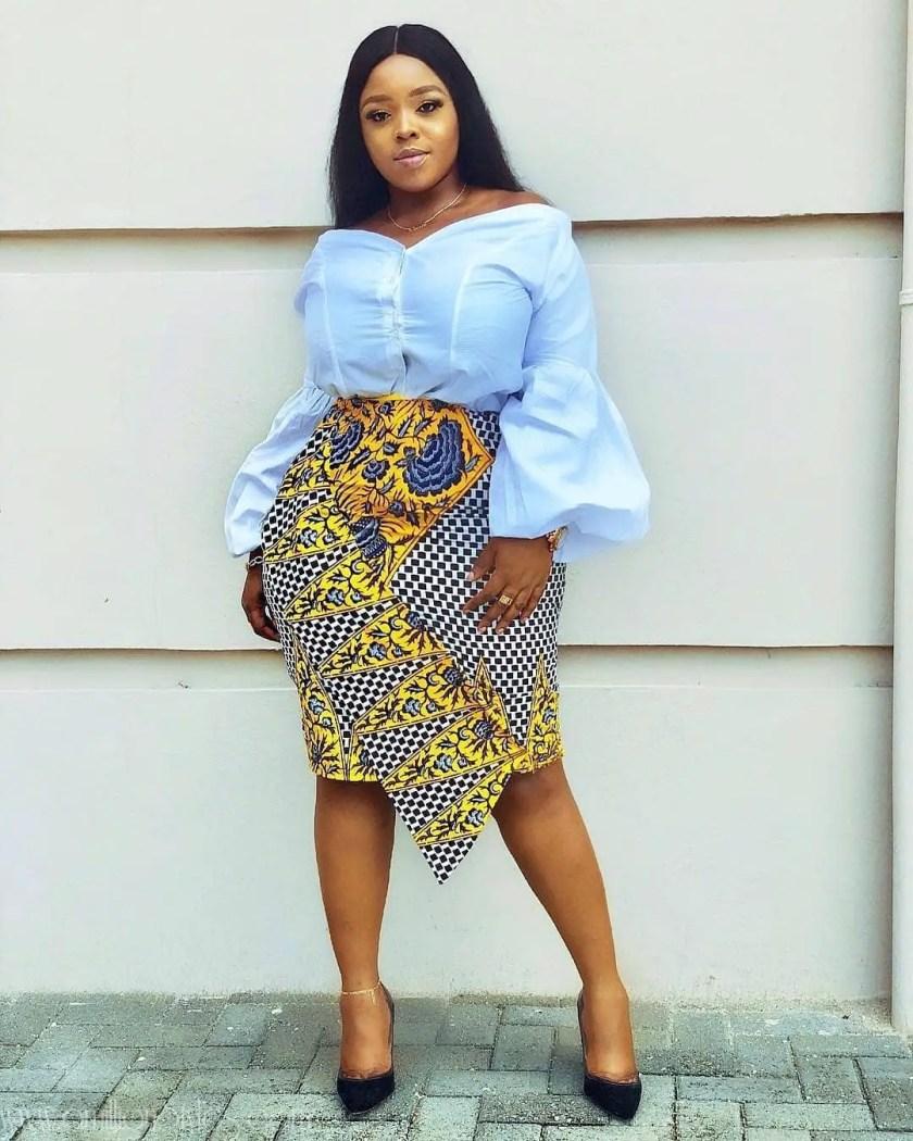 10 Fashionable Ankara Skirts