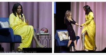 Michelle Obama Looks Super Stylish In Glitter Balenciaga Boots For Book Tour
