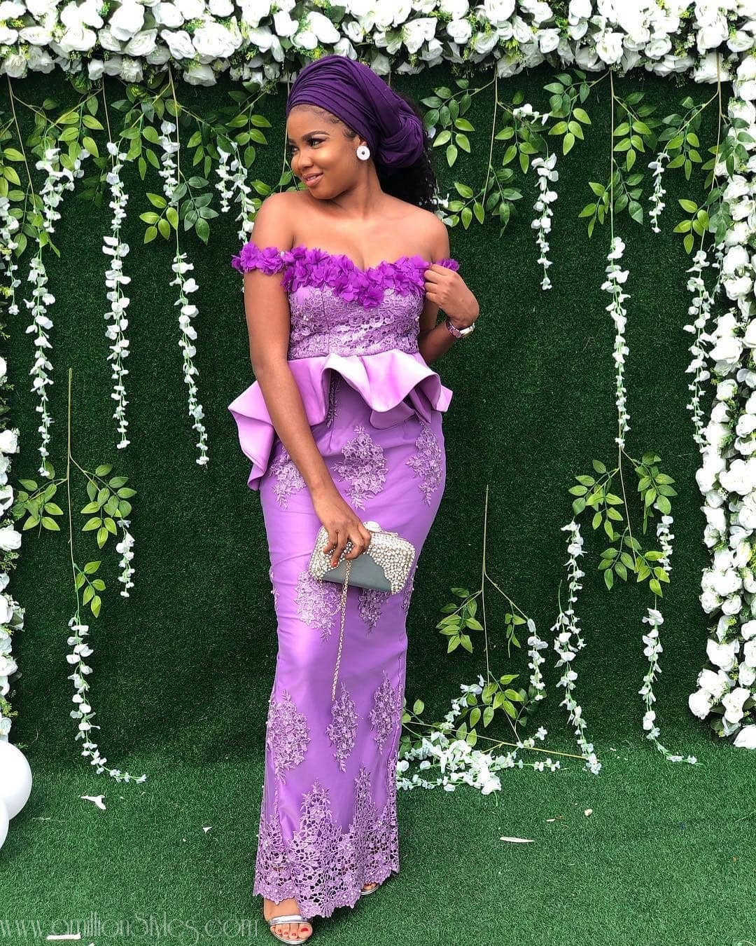13 Latest, Most Recent Asoebi In Lace Style