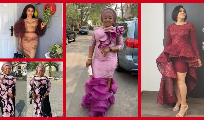 Latest Lace Asoebi Styles Volume 6