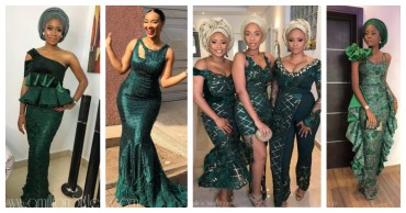 The Most Popular Color Of Asoebi Lace In 2018 Was Green