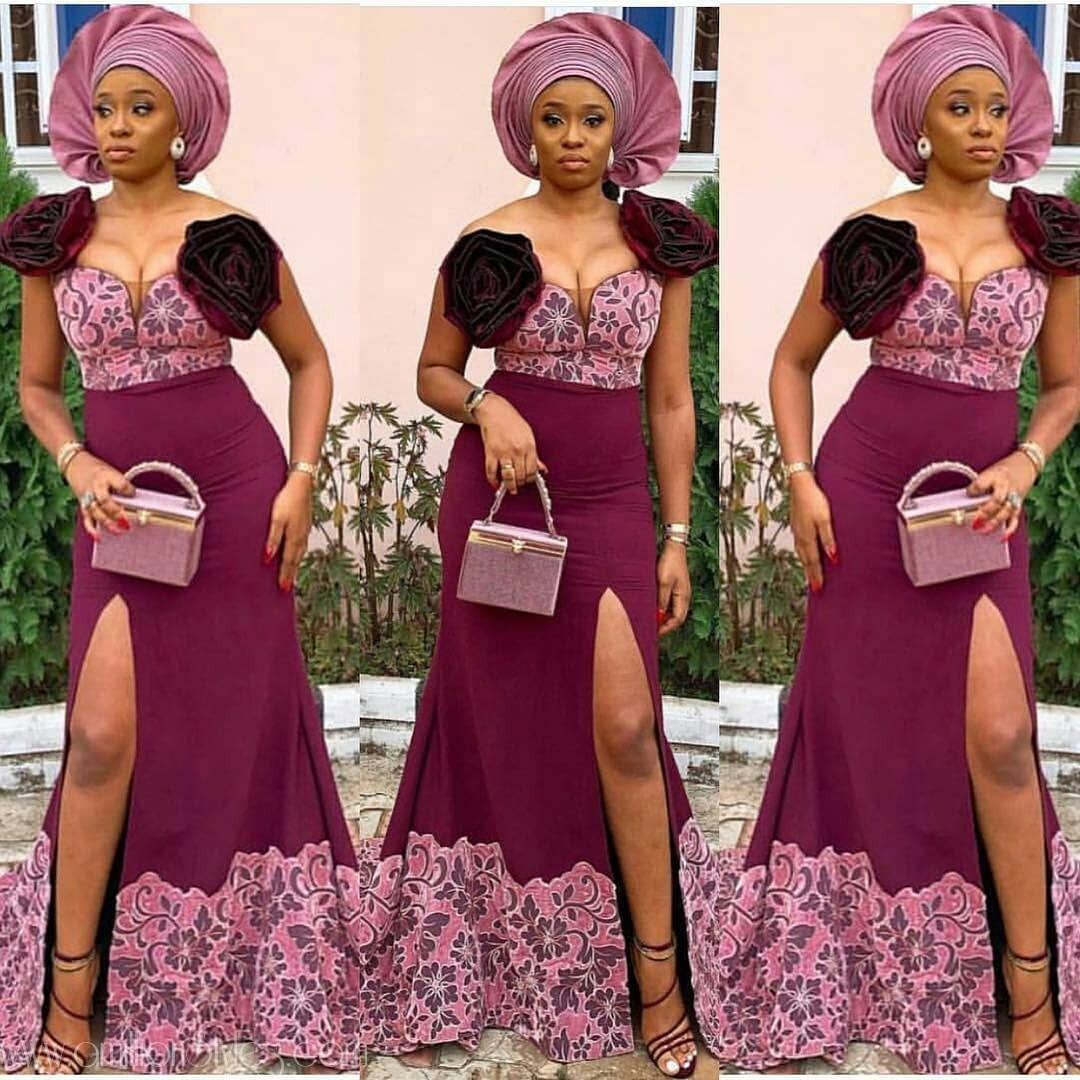 Spicy Red Hawt Lace Asoebi Styles