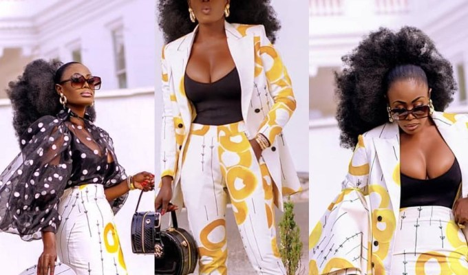 One Fabric, Three Styles: Nana Akua Addo Slays In These Pieces