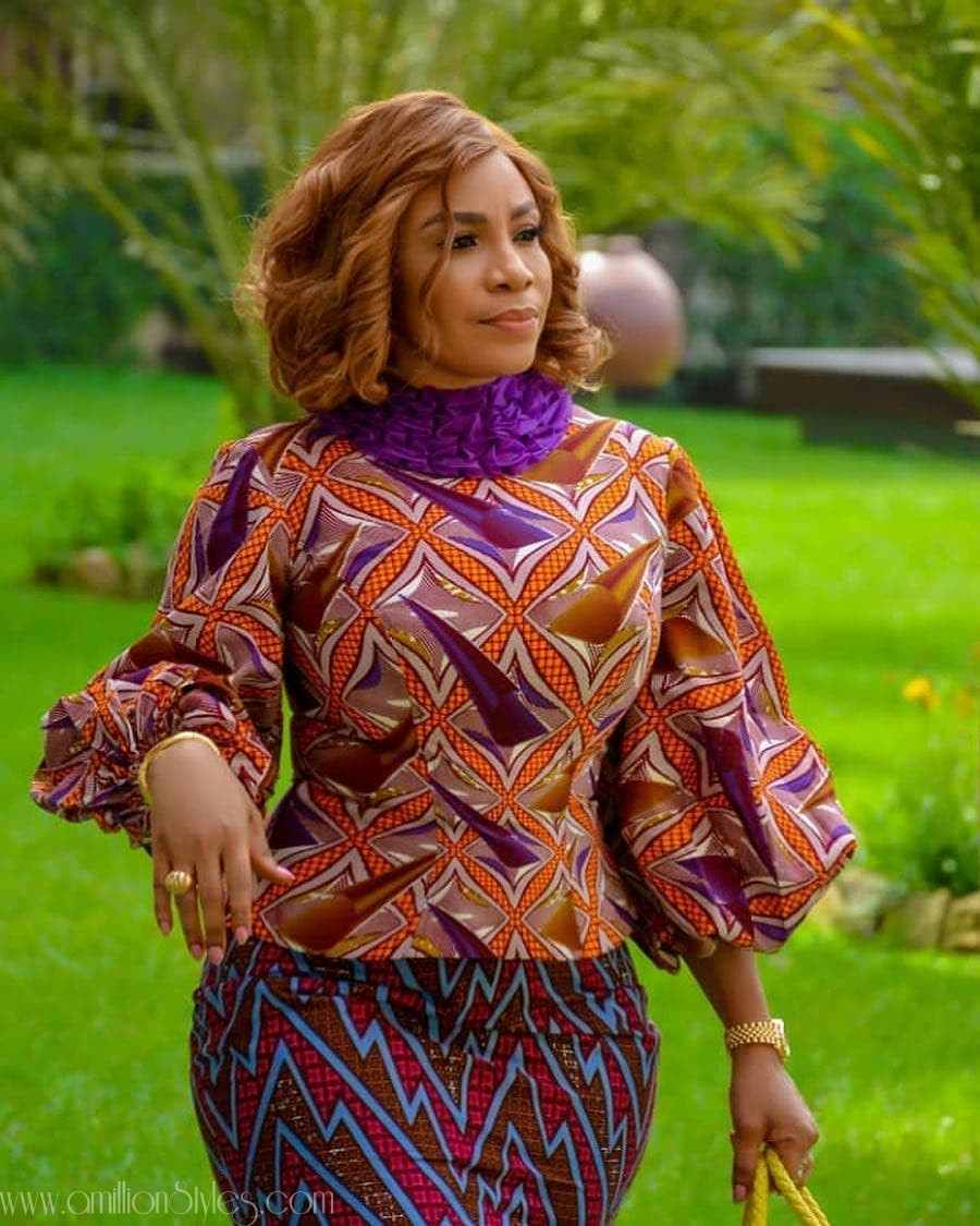 Chill Out This Friday In Casual Ankara Tops