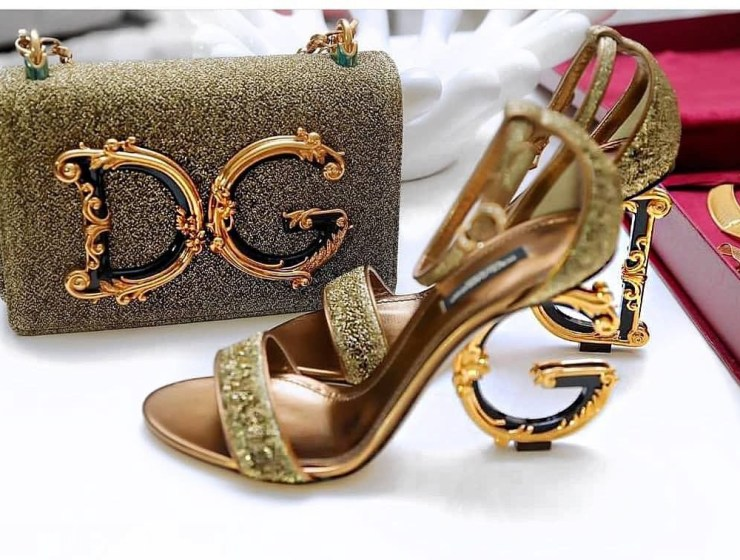 What Do You Think Of These Dolce And Gabbana Lurex Sandals With Sculpted Heels?