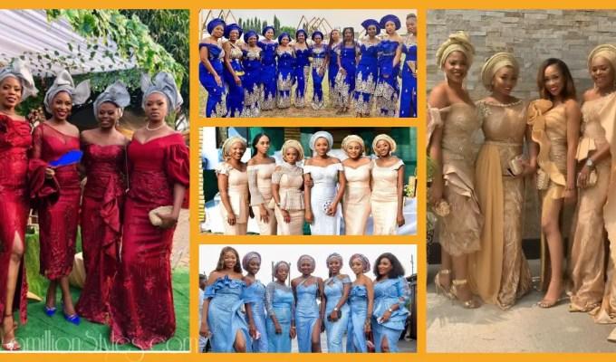 Beautiful Asoebi Bellas For Their Friends' Big Days