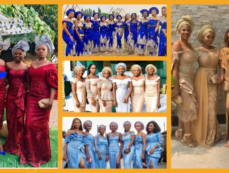 Beautiful Asoebi Bellas For Their Friends' Big Days