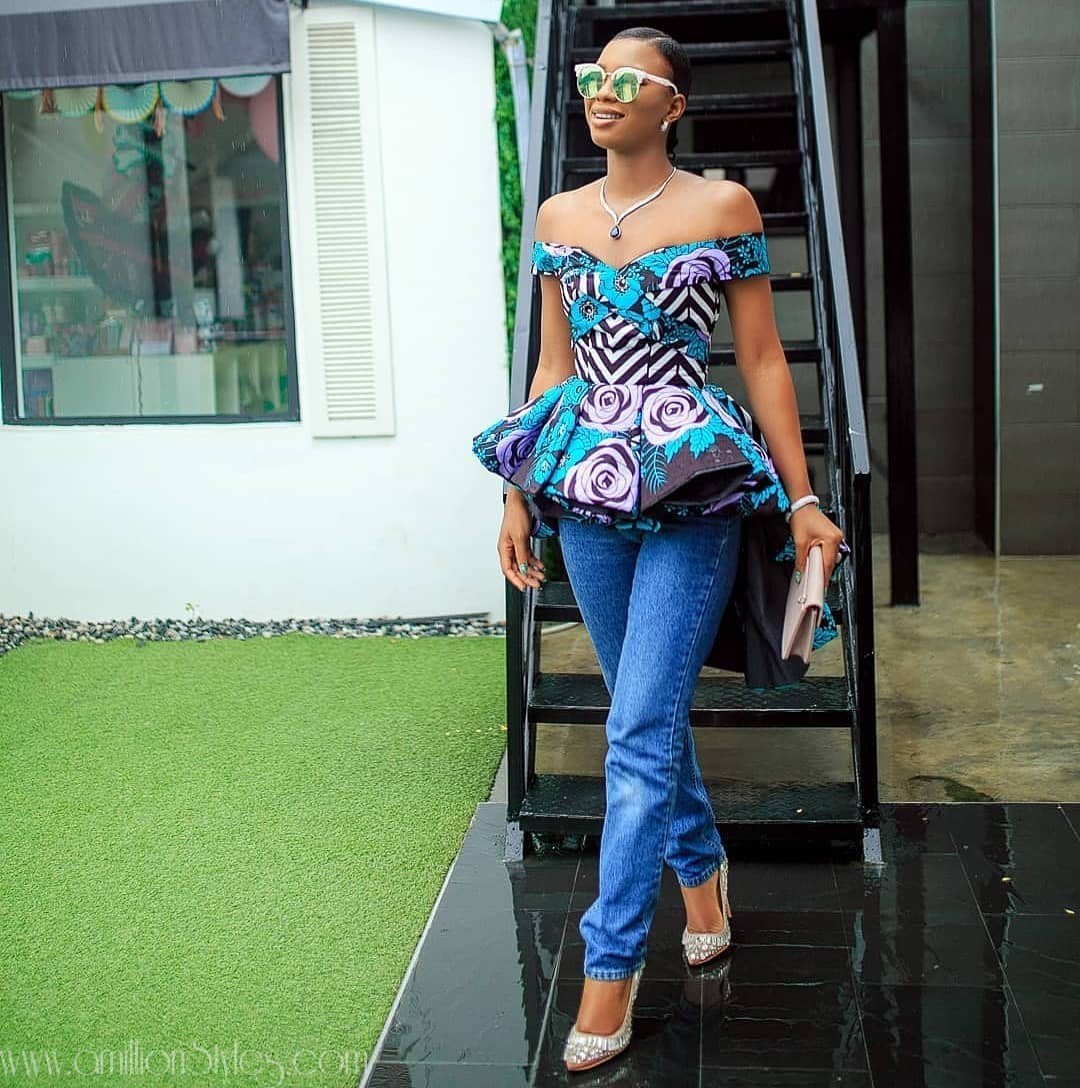 See These 10 Trendy Ankara Tops