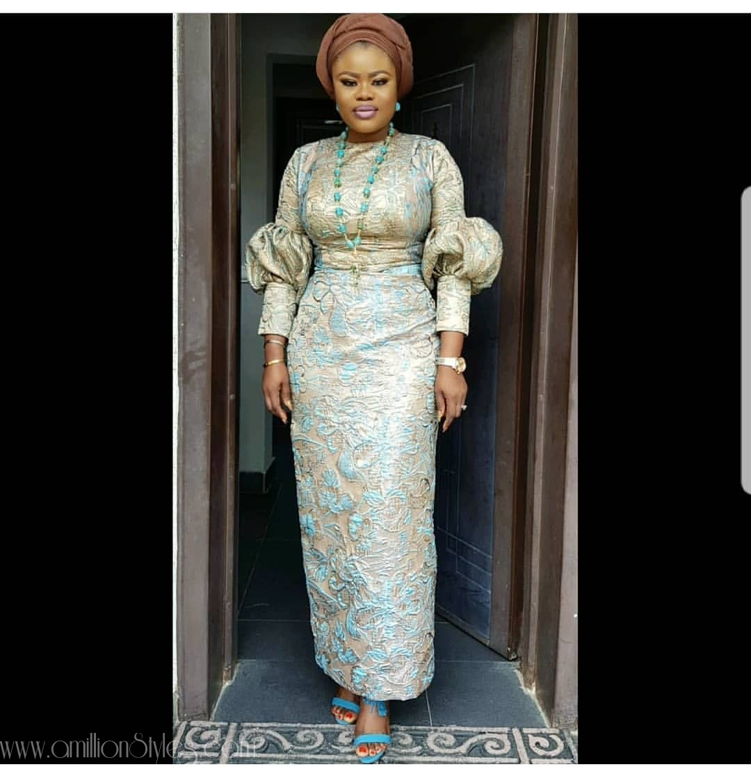 Latest Lace Asoebi Styles Volume 26 auto draft BEAUTIES! GIVE THEM HOT-HOT WITH THESE ASO EBI STYLES THIS WEEKEND asoebi Outfit by  moofadesigns amillionstyles