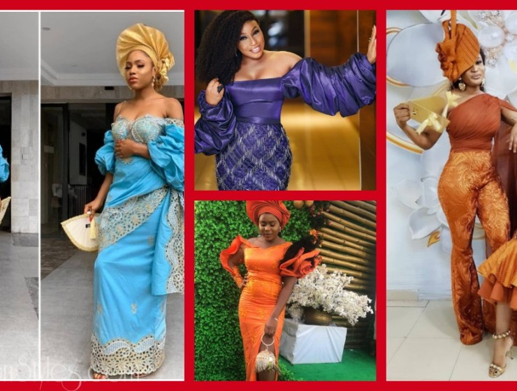 Latest Lace Asoebi Styles Volume 33