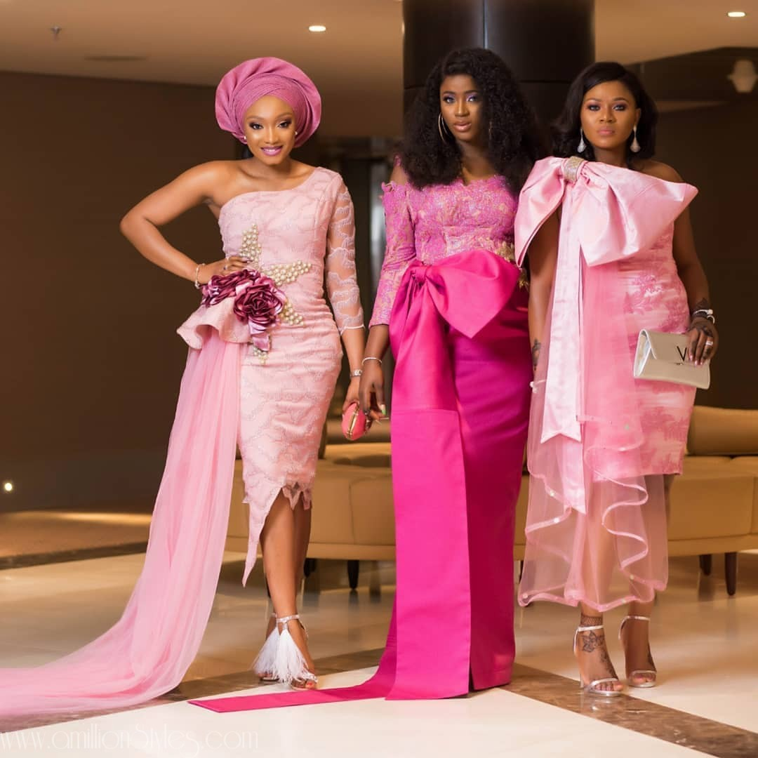 Latest Lace Asoebi Styles Volume 43
