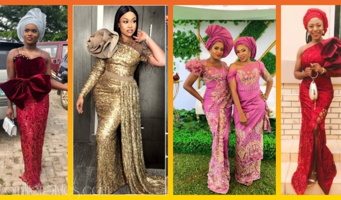 Latest Lace Asoebi Styles Volume 44