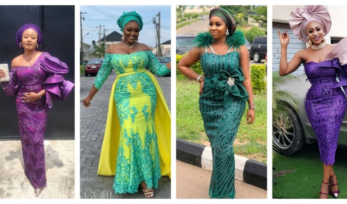 Latest Lace Asoebi Styles Volume 45