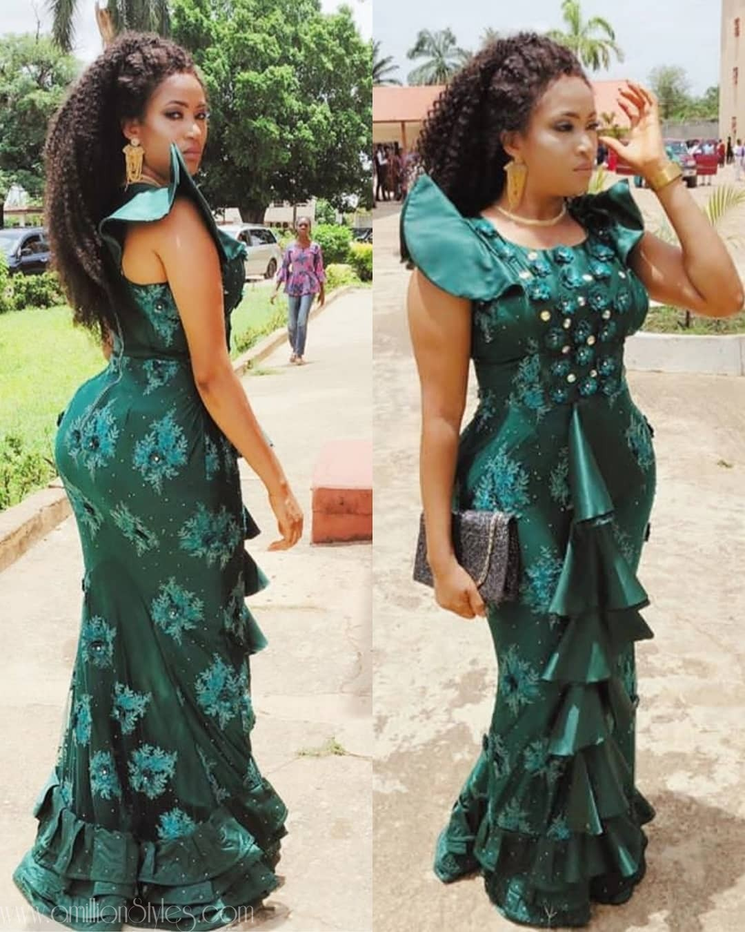 Latest Nigerian Lace Styles and Designs-Volume 1