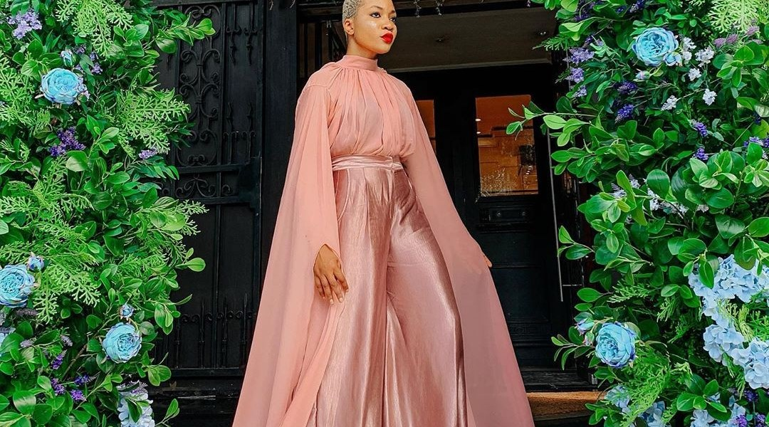 Jennifer Oseh Makes Waves In This Peach Blossom Set