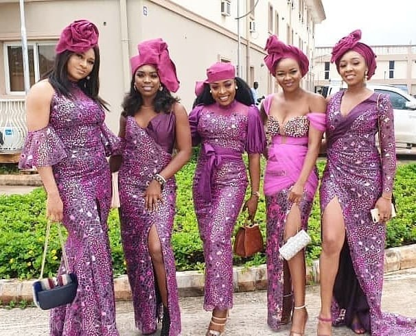 Asoebi Styles From Bam Bam And Teddy A's Wedding (#BambamTeddy2019)