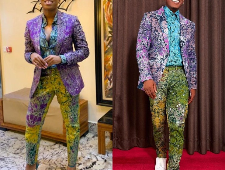 Who Wore This Three Piece Adire Suit By Ninie Better? Timini Egbuson Or Ozinna?