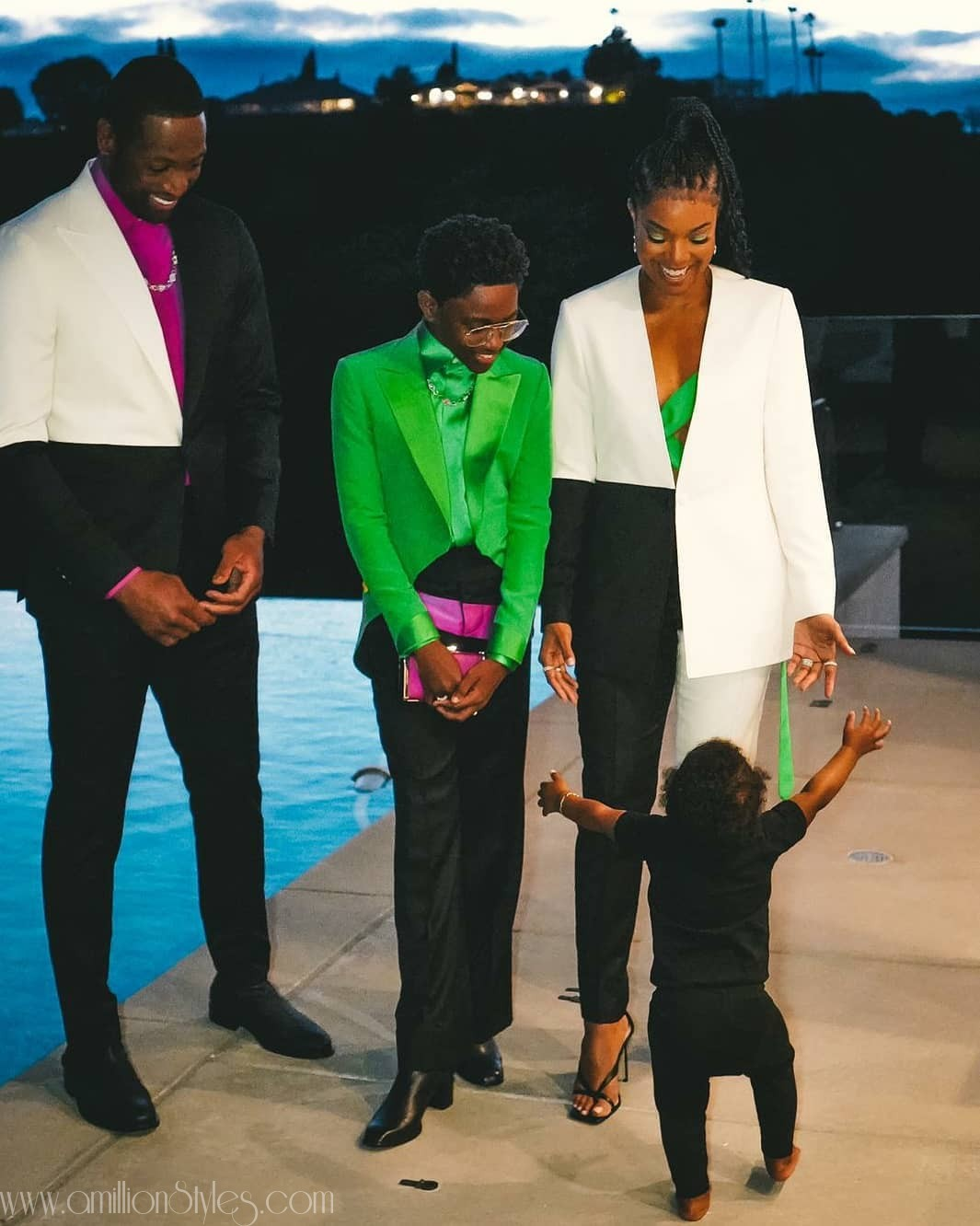 Gabrielle Union And Dwayne Wade Match-Up In Custom Suits To 2020 Truth Awards