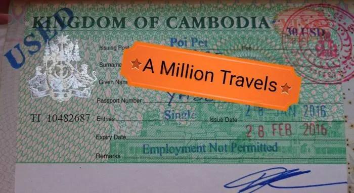 visto per la cambogia thailandia