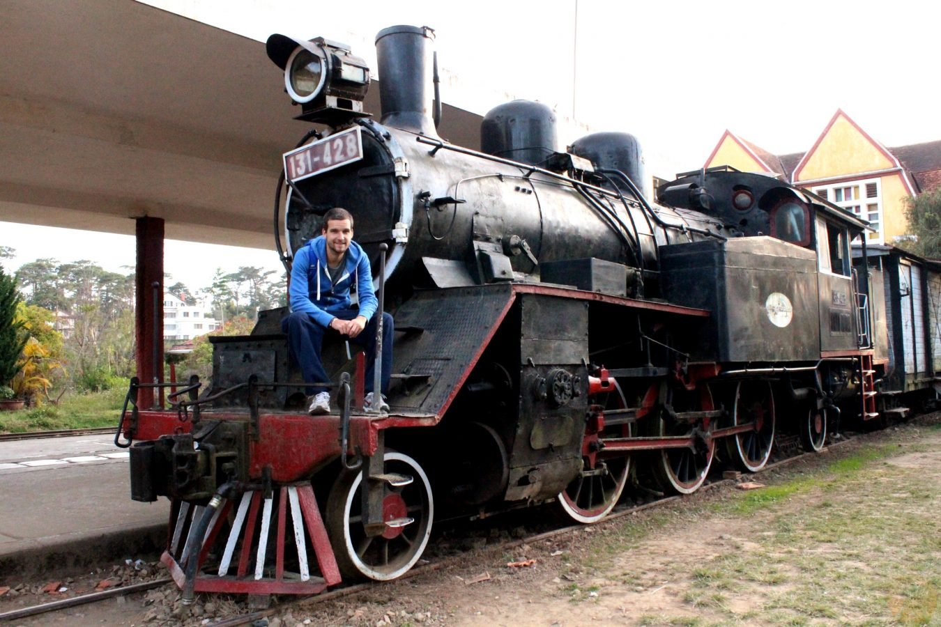 At Dalat train station