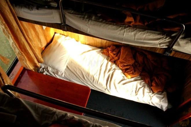 4-bed soft sleeper berth - sleeper train from Nha Trang to DaNang