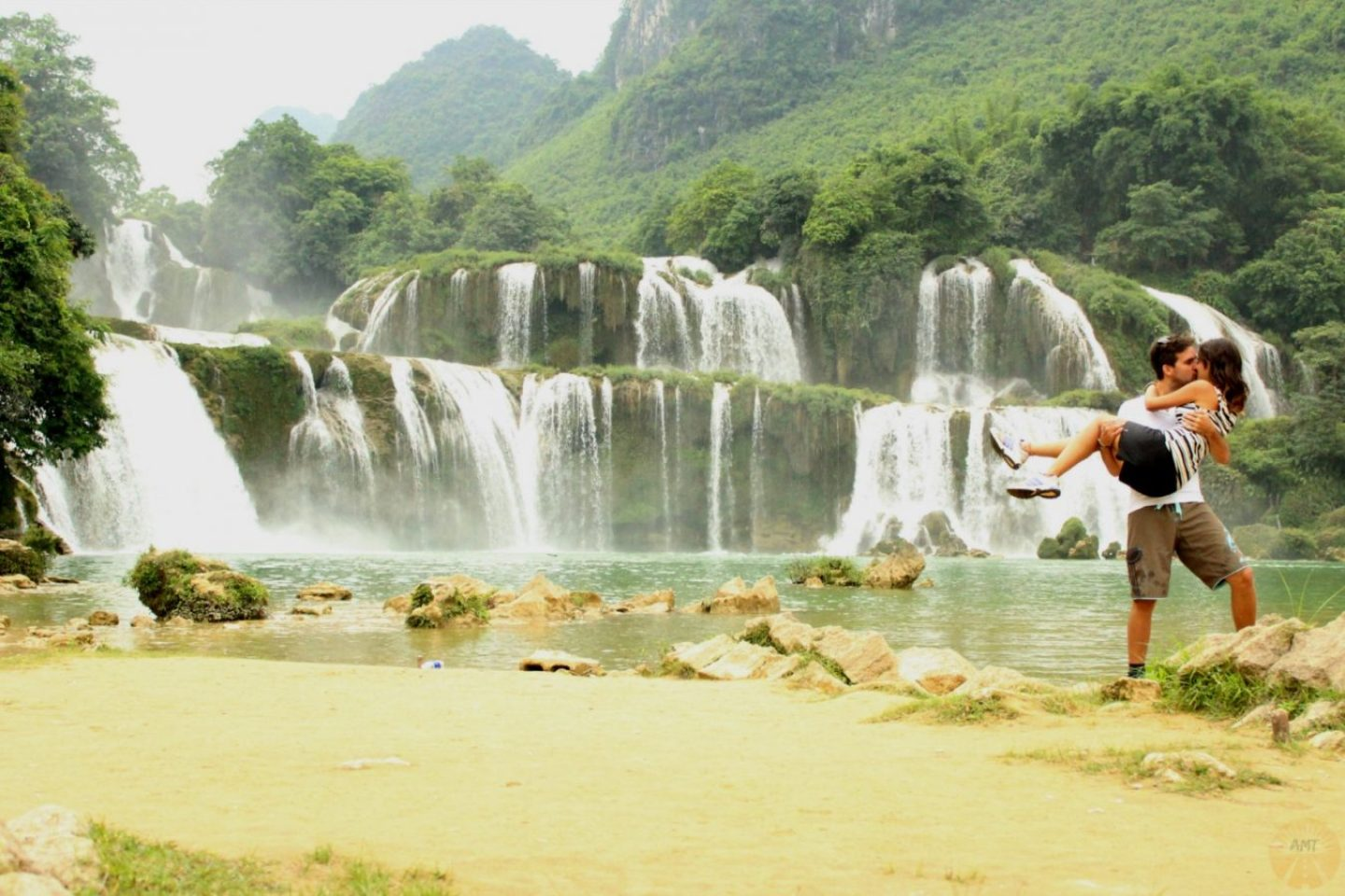 #worldkissproject at Ban Gioc waterfall
