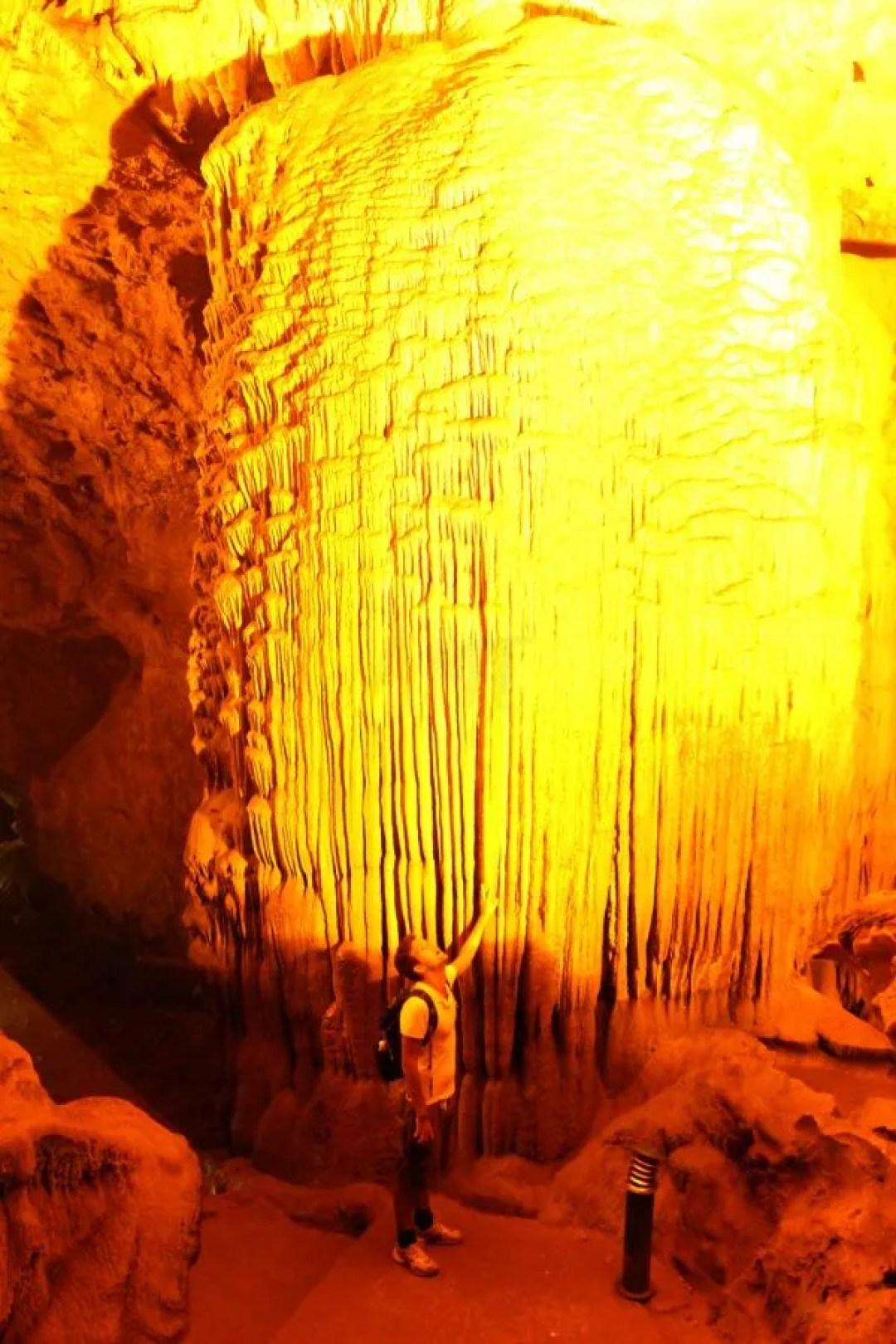 Huge stalactites