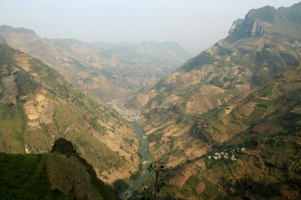 The valley widens, Ha Giang province Vietnam