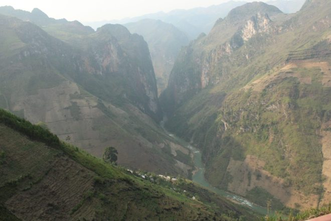 View on the canyon, Hanoi to Ha Giang