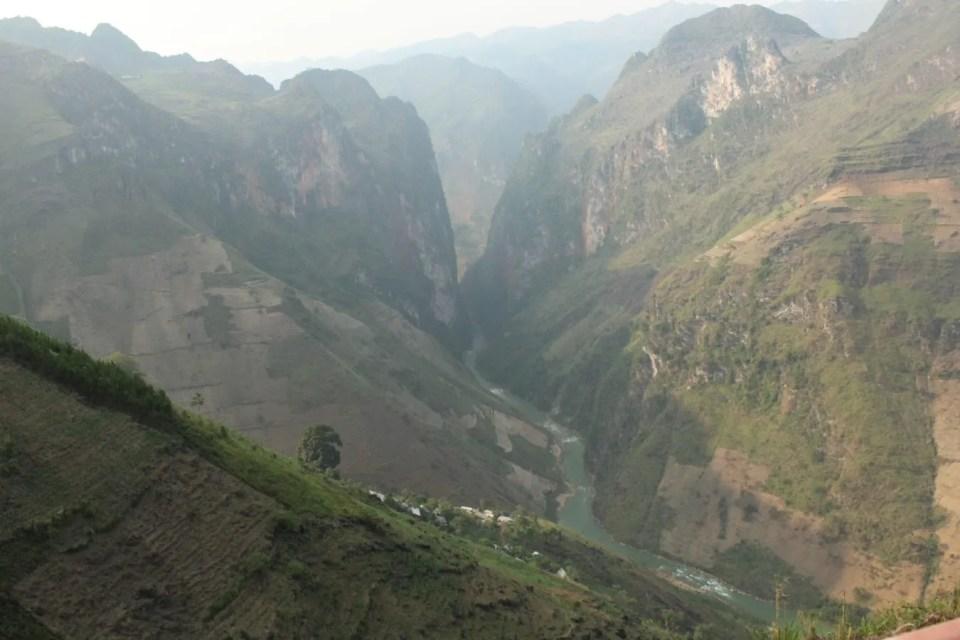 View on the canyon, Hanoi to Ha Giang