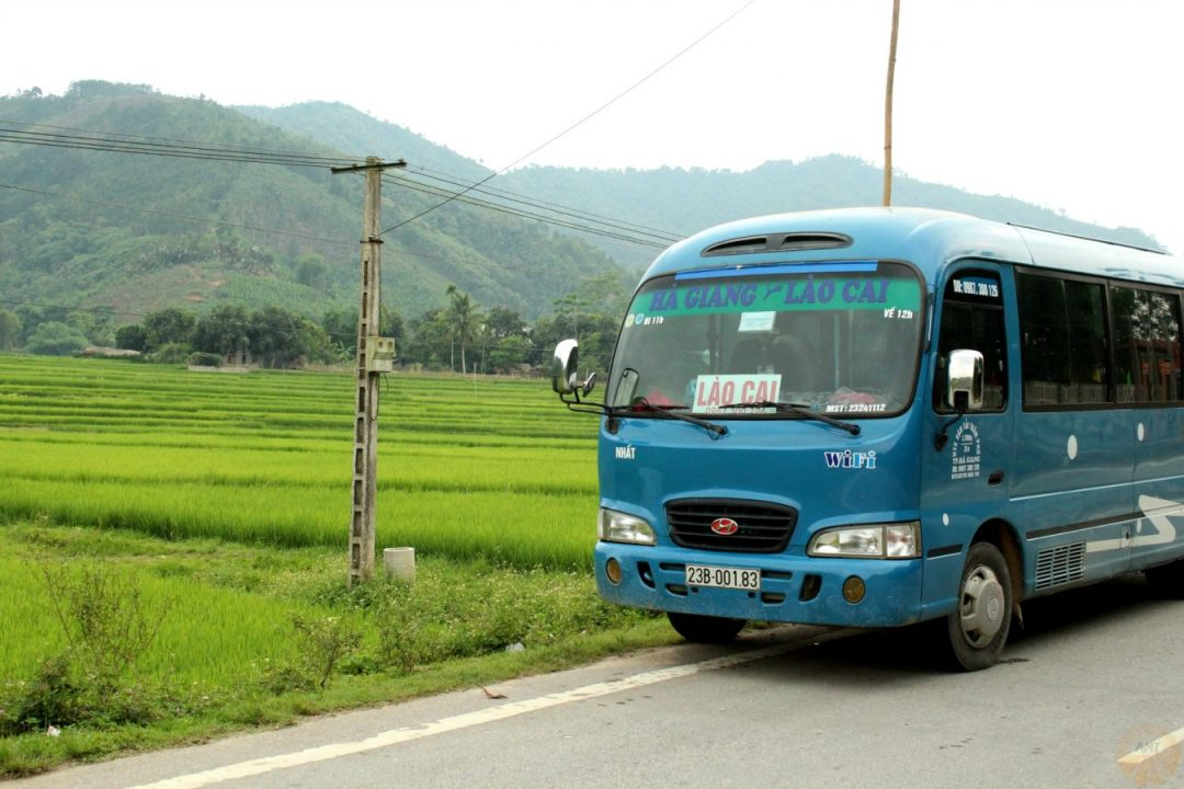Bus from Ha Giang to Lao Cai