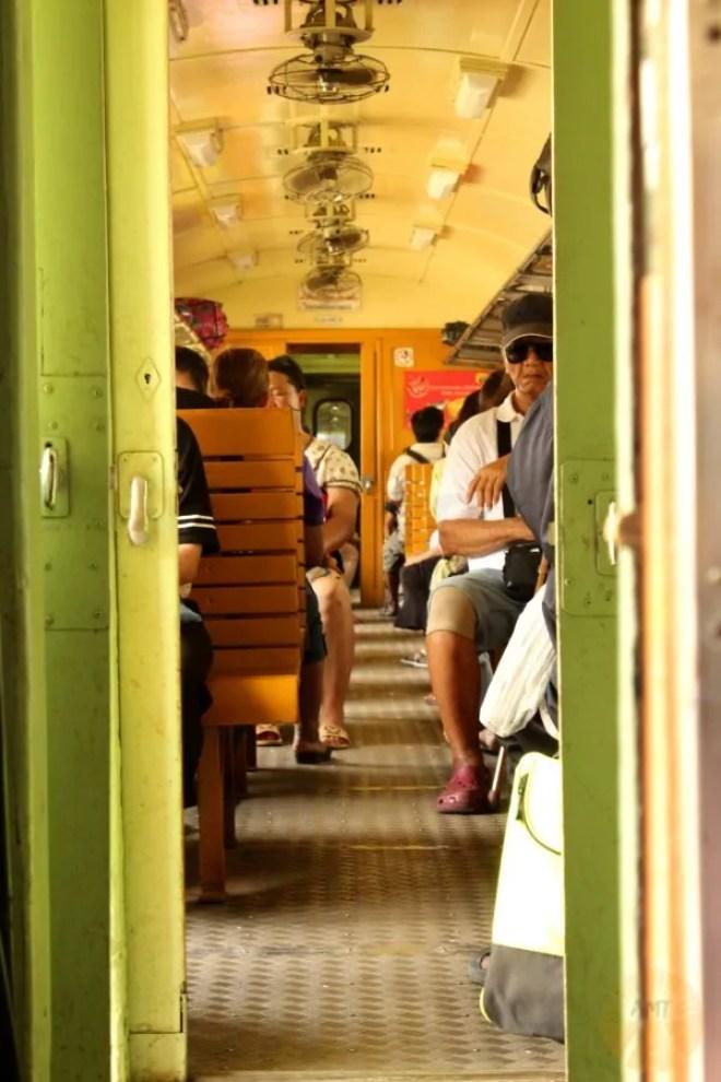 On the train from Ayutthaya to Bangkok
