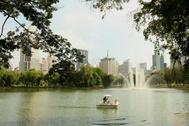 Nice landscapes at Lumphini Park