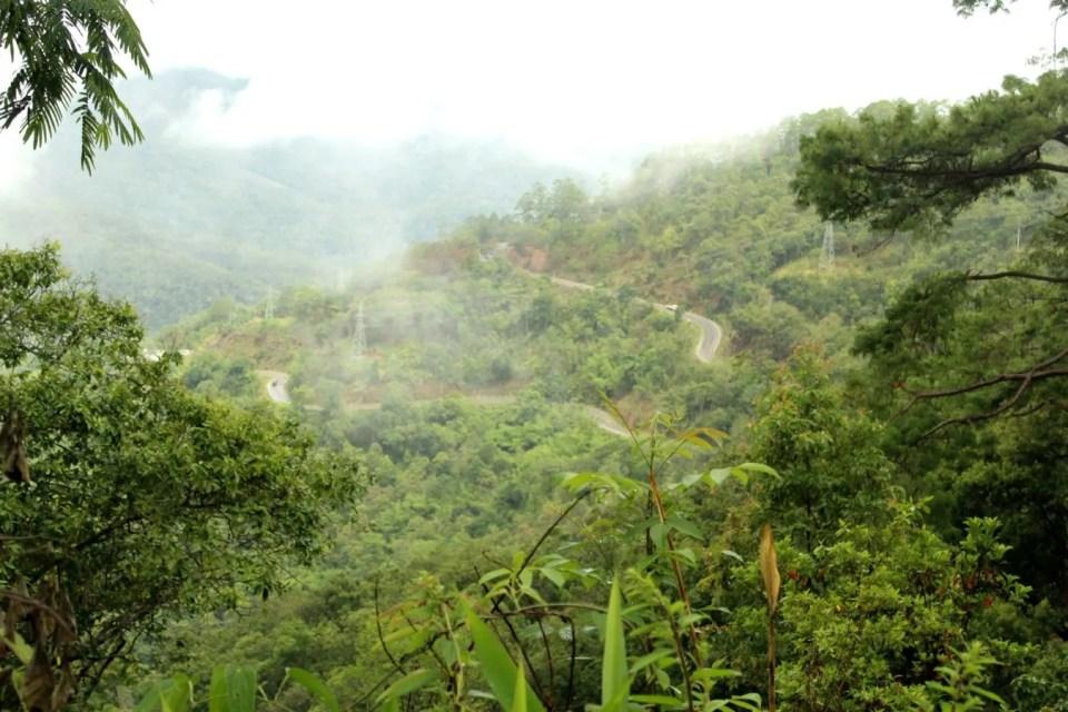 Panomaric view over Road 1095 pai mae hong son