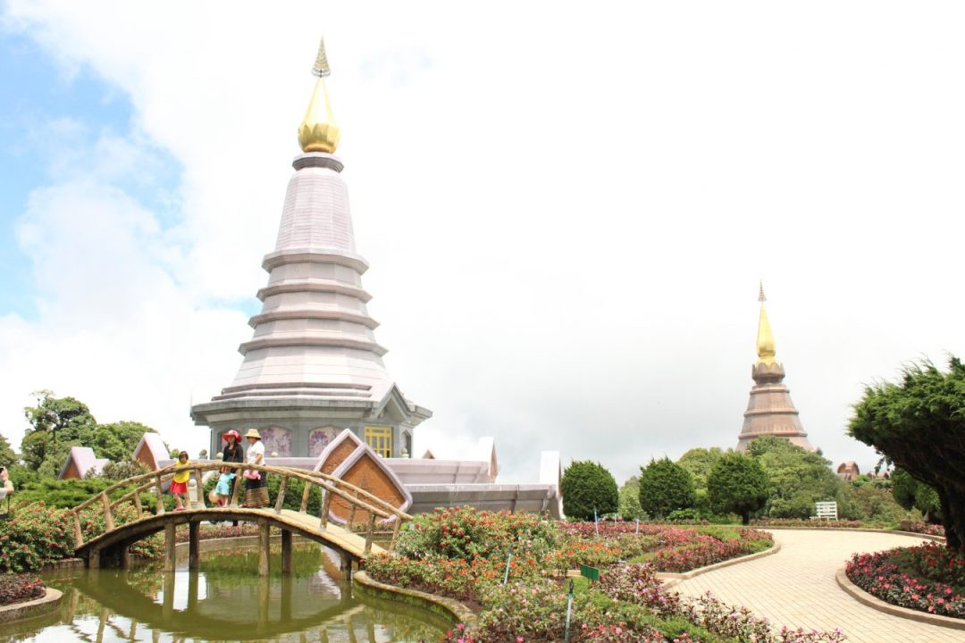 The stupas Doi Inthanon chiang mai