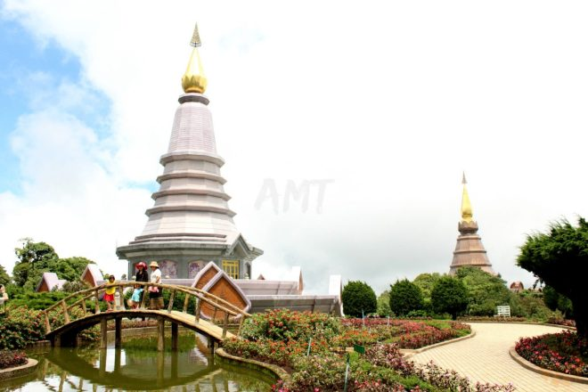 The stupas are two temples that were built in honour of the King and the Queen