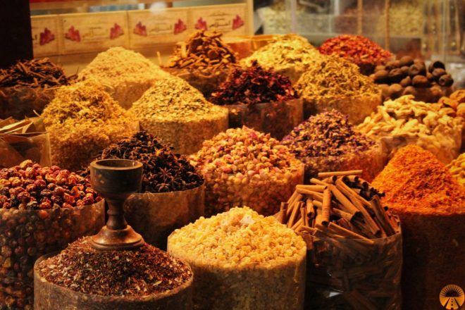 Spices in old Dubai Bazaar