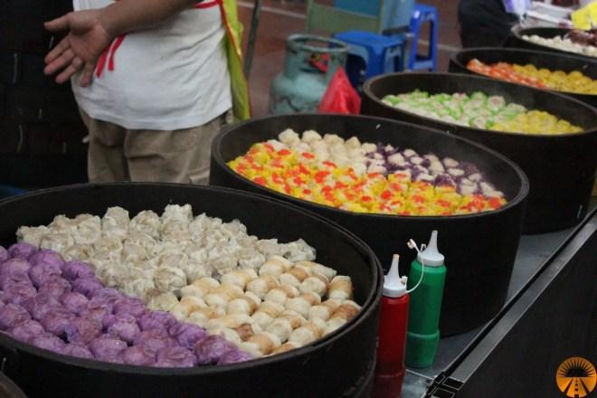 Ravioli al mercato notturno, Melaka, Malesia