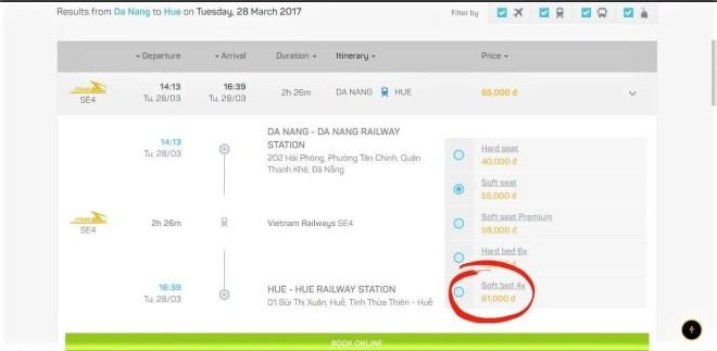 sleeper train Vietnam Thailand
