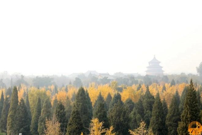 Beijing smog Temple of Heaven