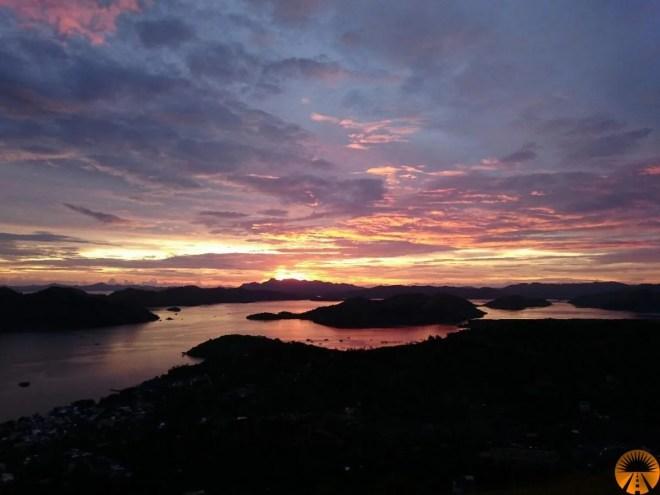 monte tapyas tramonto coron